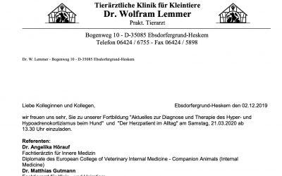 Einladung zur Fortbildung (leider ausgebucht!!)